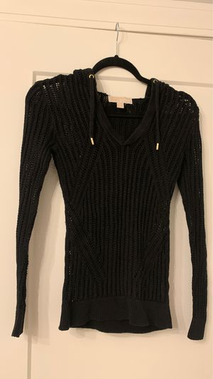Michael Kors Light black hooded sweater size XXS for Sale in Kirkwood, MO