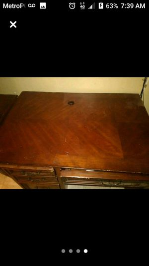 Wooden desk for Sale in Wichita, KS