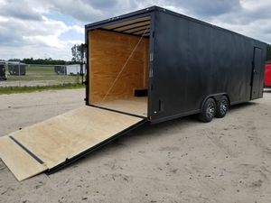 ENCLOSED TRAILERS ALL SIZES 20 24 28 32-SNOWMOBILE CAR HAULER MOTORCYCLE STORAGE ATV QUAD BIKE SLED for Sale in Woodbury, NY