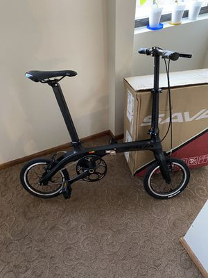 """Ultralight Carbon folding city bike, 14"""" wheels, 14lbs for Sale in Mountainside, NJ"""
