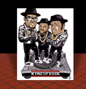 11x14 RUN DMC Art Print w/hologram coa Signed by artist for Sale in Freeland, PA