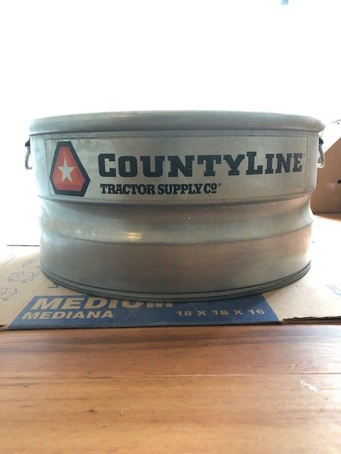 CountyLine Galvanized Utility Stock Tank, 23 Gallons [ONLY USED ONCE]