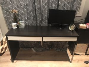 Ikea computer desk - black for Sale in Anaheim, CA