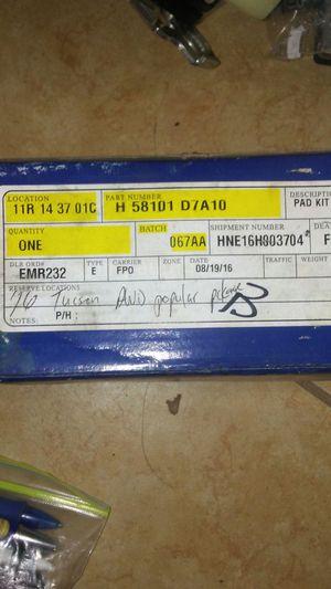 2016 hyundai tucson brake pad kit for Sale in Miami Gardens, FL