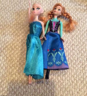 Elsa and Anna dolls for Sale in Annandale, VA