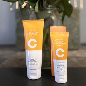 Avon Vitamin C Duo Set Warming Peel & Illuminating Priming Moisturizer for Sale in Kennedale, TX