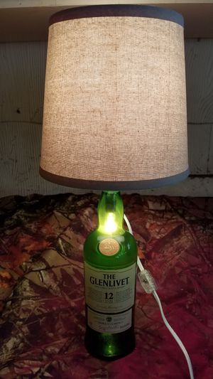 1 litre The Glenlivet Single Malt Scotch Whiskey bottle lamp for Sale in Evansville, IN