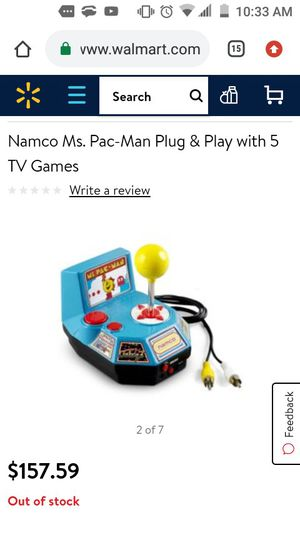 Namco Ms. Pac-Man Plug & Play with 5 TV Games for Sale in Lithonia, GA