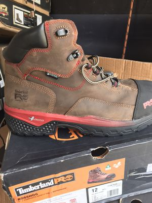 Timberland BOSSHOG//Work boots // composite safety toe// size (12)only for Sale in Morton Grove, IL