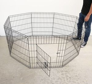 """New $30 Foldable 24"""" Tall x 24"""" Wide x 8-Panel Pet Playpen Dog Crate Metal Fence Exercise Cage for Sale in Whittier, CA"""