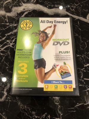 Golds gym workout DVD for Sale in Niceville, FL