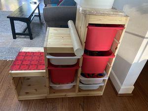 IKEA TROFAST shelving with bins for Sale in Seattle, WA