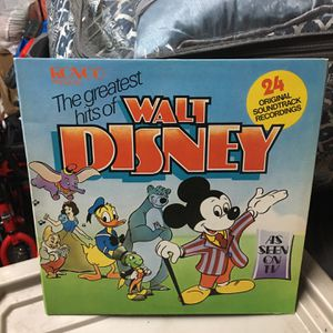 1975 Ronco Presents The Greatest Hits Of Walt Disney As Seen On Tv 24 Original Soundtrack Recordings for Sale in McHenry, IL