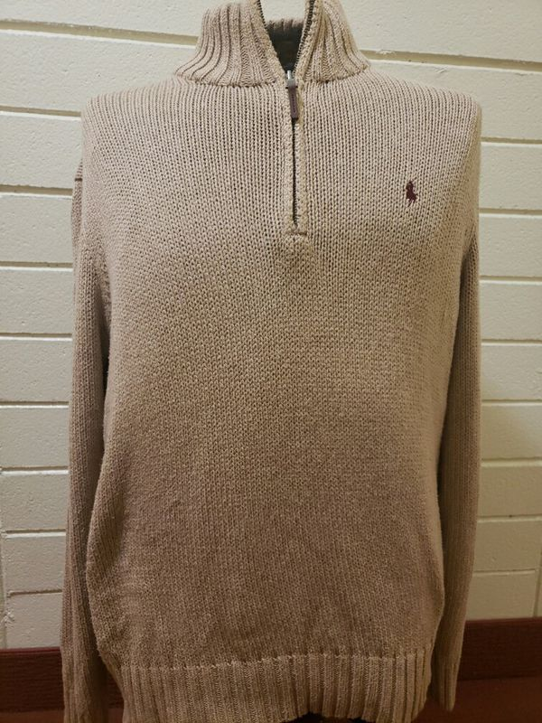 Polo Ralph Lauren Sweater Brown Marroon Horse sz L