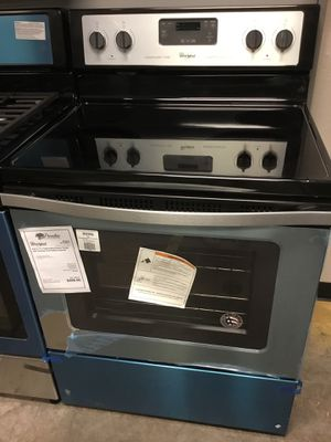 New Whirlpool Stainless Steel Electric Glass Top Stove Oven for Sale in Gilbert, AZ
