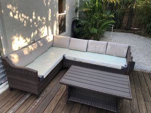 outdoor couch sectional and table for Sale in Lake Worth, FL