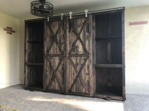 Custom artistic barn doors, cabinets, consoles, headboards , dining sets , display cabinets potting tables or anything else. 40 years experience. Jus for Sale in Tampa, FL