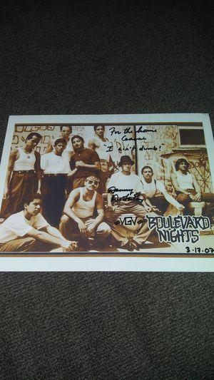"Rare 8"" x 10"" autograph by Danny De La Paz of (Boulevard Nights) inscribed ""I ain't dumb"" for Sale in Vernon, CA"