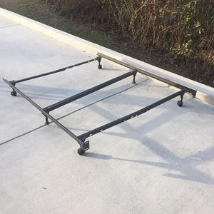 Adjustable portable Metal Bed Frame for Twin, Full, queen for Sale in Hattiesburg, MS