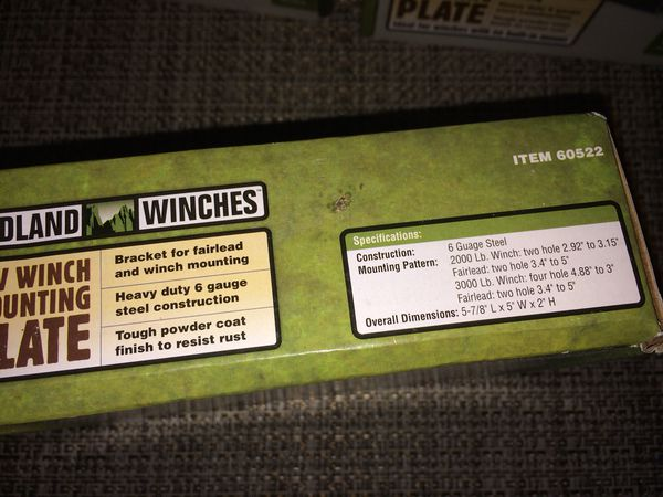 NEW Badland Winches ATV Winch Mounting Plates ($4 each) - BRAND NEW IN THE  BOXES for Sale in Chantilly, VA - OfferUp