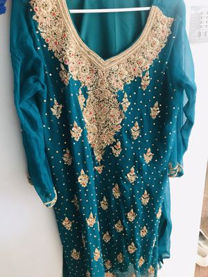 Sea green Party dress, large size for Sale in Vallejo, CA