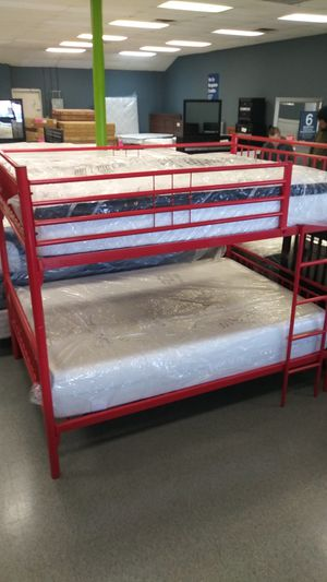 Full bunk bed frame mattress not included for Sale in Columbus, OH