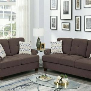F8835 DARK COFFEE 2- PC SOFA SET for Sale in Baldwin Park, CA