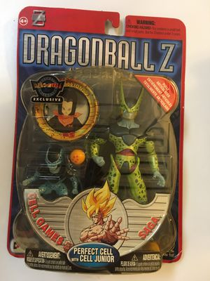 Dragonball Z Cell Games Saga PERFECT CELL WITH CELL JUNIOR Deluxe Action Figure 2000 Irwin Toy Series 5 Dragon Ball Z DBZ NEW IN PACKAGE!!! for Sale in FL, US