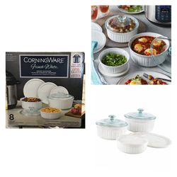 CorningWare French White 8-piece Round Bakeware Set for Sale in Stafford,  TX