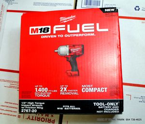"""New Milwaukee M18 FUEL 1/2"""" High Torque Impact Wrench W Friction Ring 2767-20 for Sale in Margate, FL"""