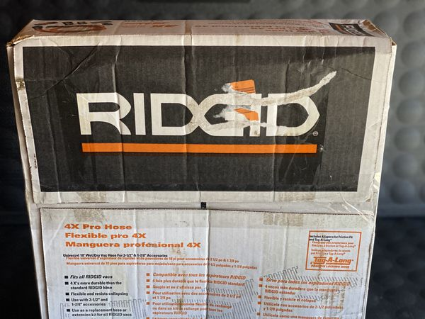 RIDGID 1-7/8 in. x 10 ft. Professional Grade Vacuum Hose Kit for RIDGID Wet Dry Shop Vacuums
