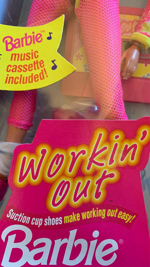 1996 Mattel Barbie Working out