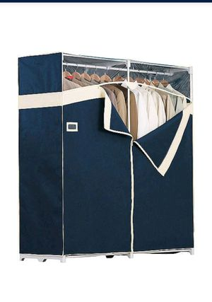 Rubbermaid Portable Garment Closet, 60 In. - Navy for Sale in North Lauderdale, FL
