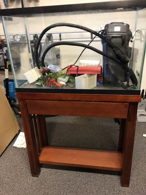 27 Gallon Aquarium with Stand and Filter for Sale in Menifee, CA