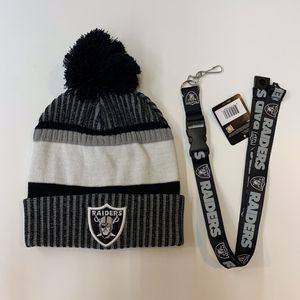 Raiders Beanie and Keychain for Sale in Los Angeles, CA