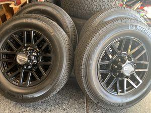 "Black 20"" Ford F-250 F250 Sport Wheels and Michelin tires Rims F-350 super duty HD for Sale in Costa Mesa, CA"