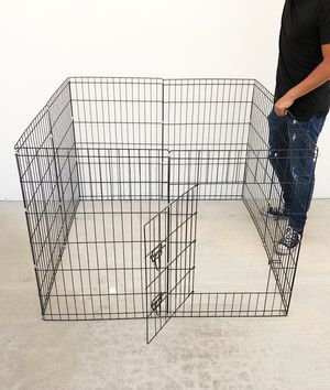 "New $40 Foldable 36"" Tall x 24"" Wide x 8-Panel Pet Playpen Dog Crate Metal Fence Exercise Cage for Sale in Whittier, CA"