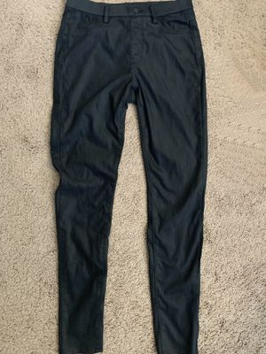 UNIQLO faux leather black pants for Sale in Half Moon Bay, CA