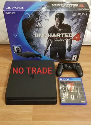 PS4 SLIM 500GB BUNDLE, FIRM PRICE, READ DESCRIPTION FOR OPTIONS for Sale in Garden Grove, CA