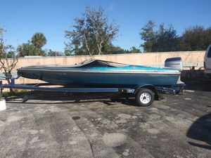 18ft baja speedboat 70 mph 235hp evinrude with trailer for Sale in Orlando, FL