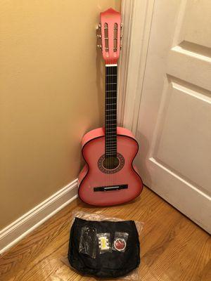 Acoustic Guitar Pink for Sale in Elizabeth, NJ