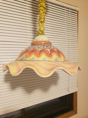 Retired Mackenzie Child pattern Hanging Lamp for Sale in Big Lake, MN