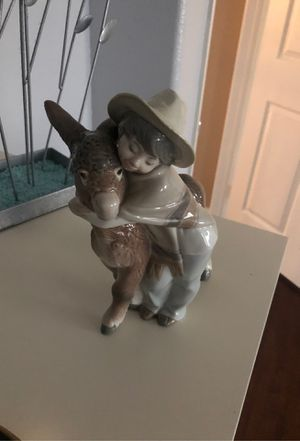 "LLADRO #1181 ""PLATERO & MARCELINO"" BOY WITH DONKEY AUTOGRAPHED SIGNED FIGURINE for Sale in Chula Vista, CA"