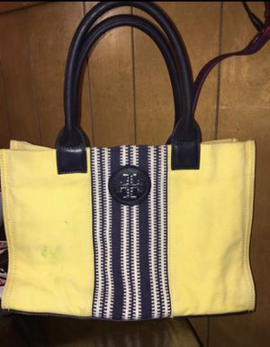 Tory Burch canvas small tote good condition $25 for Sale in Fort Worth, TX