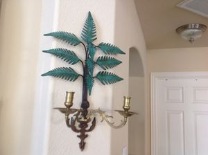 Pair Vintage Wall Mounted Brass Candelabra - $70 for Sale in Grand Prairie, TX