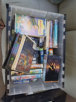 Box of vhs movies, free for Sale in San Diego, CA
