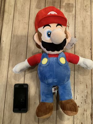 "Big super mario plush 30"" tall brand new with tags for Sale in Corona, CA"