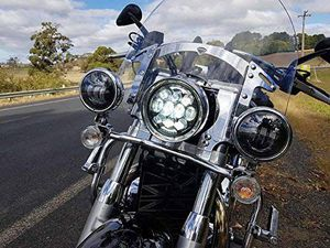"""80W DOT Approved 5-3/4"""" 5.75"""" Osram Chips LED Projector Headlight for Harley Motorcycles/Bike for Sale in Anaheim, CA"""