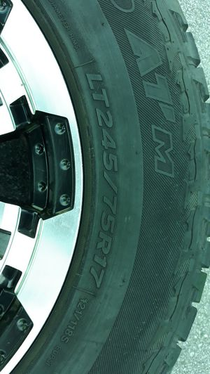 245/75R17 tires with wheels!!! 2 tires almost new, 2 tires about 75% for Sale in Brandon, FL