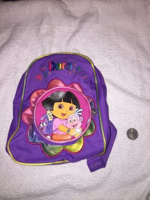 Dora and Boots Small Purple Girls Backpack Bag for Sale in Honolulu, HI